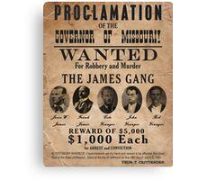 James Gang Wanted Poster Canvas Print