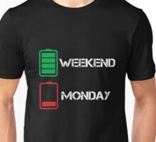 Live for the Weekend Hate Monday Unisex T-Shirt