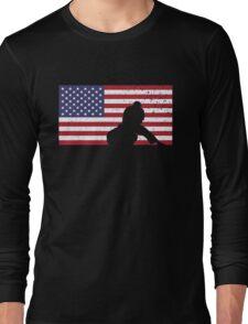 American Flag Brazilian Jiu-Jitsu Long Sleeve T-Shirt