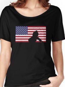 American Flag Brazilian Jiu-Jitsu Women's Relaxed Fit T-Shirt