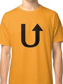 Letter U - U turn Classic T-Shirt