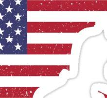 American Flag Brazilian Jiu-Jitsu Sticker