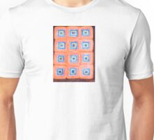 Twelve Red and Blue Melted Together Squares  Unisex T-Shirt