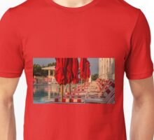 Red Stripes at the Pool Unisex T-Shirt