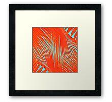 Flame Frenzy Framed Print