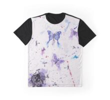 Butterfly Dandelion Clock Graphic T-Shirt