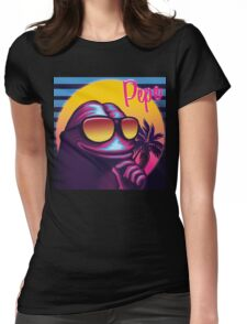 Pepe the Frog 80s Malibu Style Meme Womens Fitted T-Shirt