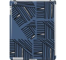 Line pattern black and blue gray iPad Case/Skin