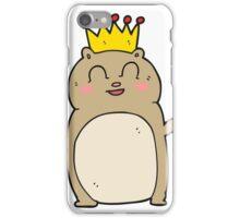 cartoon waving hamster iPhone Case/Skin