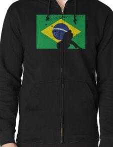 Brazilian Flag - BJJ Zipped Hoodie