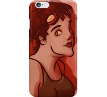 Hazel Eyed Girl with Goggles iPhone Case/Skin