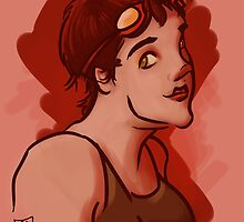 Hazel Eyed Girl with Goggles by jazz4thecaptain