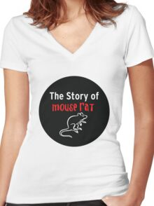 The Story of Mouse Rat Women's Fitted V-Neck T-Shirt