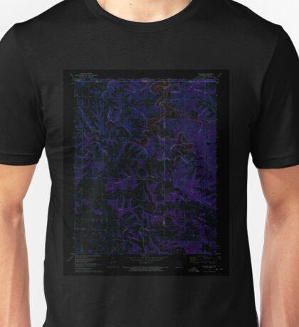 USGS TOPO Map Arkansas AR Denver 258334 1972 24000 Inverted Unisex T-Shirt