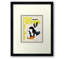 Pulp Fiction Vintage Movie Poster Framed Print