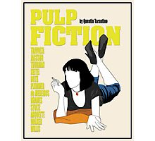 Pulp Fiction Vintage Movie Poster Photographic Print