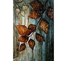Abstract Tree Branch Oil Painting Photographic Print
