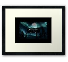 Rest How Long? Framed Print