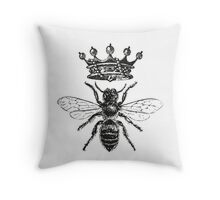 Queen Bee | Black and White Throw Pillow