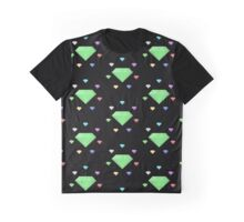 Chaos Emeralds (black) Graphic T-Shirt