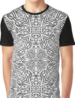 Black and White Vector Graphic T-Shirt