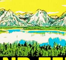 GRAND TETON NATIONAL PARK WYOMING HIKING CAMPING CLIMBING MOUNTAINS VINTAGE Sticker