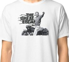Steve McQueen The great escape TRIUMPH TR6 Moto Classic T-Shirt