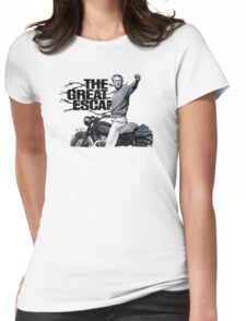 Steve McQueen The great escape TRIUMPH TR6 Moto Womens Fitted T-Shirt