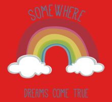 SOMEWHERE OVER THE RAINBOW art bright colourful Kids Clothes
