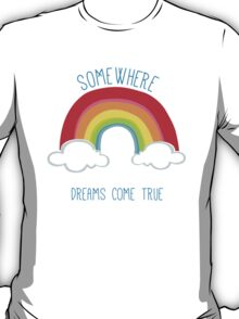 SOMEWHERE OVER THE RAINBOW art bright colourful T-Shirt
