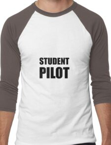 Student Pilot Caution Men's Baseball ¾ T-Shirt