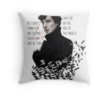 Side of the Angels Throw Pillow
