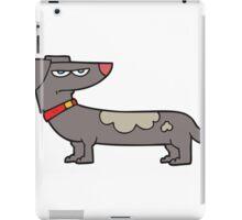 cartoon annoyed dog iPad Case/Skin