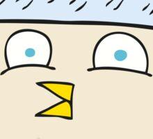 cartoon owl wearing hat Sticker