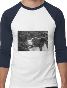 expression of a border collie Men's Baseball ¾ T-Shirt