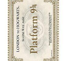 Hogwarts 9 3/4 phonecase by anyaquamarine