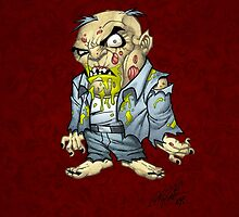 Cartoon Zombie Business Man Art by Al Rio by alrioart
