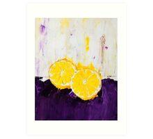 Lemon Scented Fruit Art Print