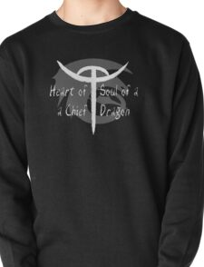 Heart of a Chief, Soul of a Dragon - Black and White Pullover