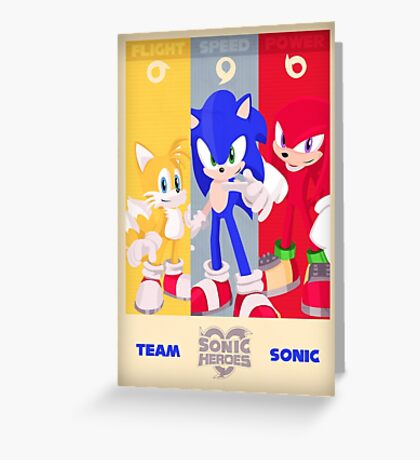 Team Sonic - Sonic the Hedgehog Greeting Card
