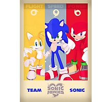 Team Sonic - Sonic the Hedgehog Photographic Print