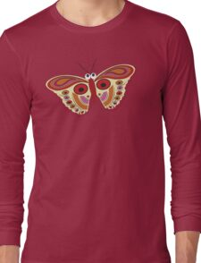 Retro Butterfly Long Sleeve T-Shirt