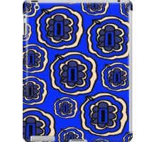 Blue and yellow floral pattern iPad Case/Skin