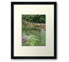 Summer border in a Walled English Garden Framed Print
