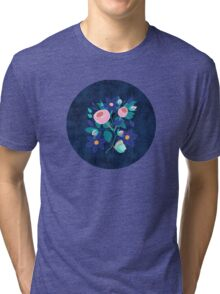Roses and Butterfly Tri-blend T-Shirt