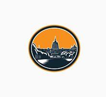 United States Capitol Building Woodcut Retro Unisex T-Shirt