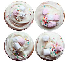 Marshmallows and sprinkles Photographic Print