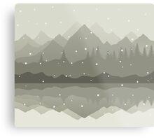 Winter mountains Metal Print