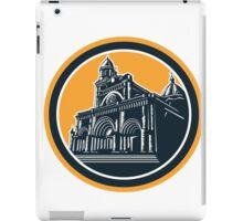 Manila Cathedral Woodcut Retro iPad Case/Skin