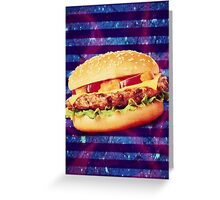 Cheeseburger From Planet X Greeting Card